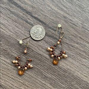 Brown Boho Earrings
